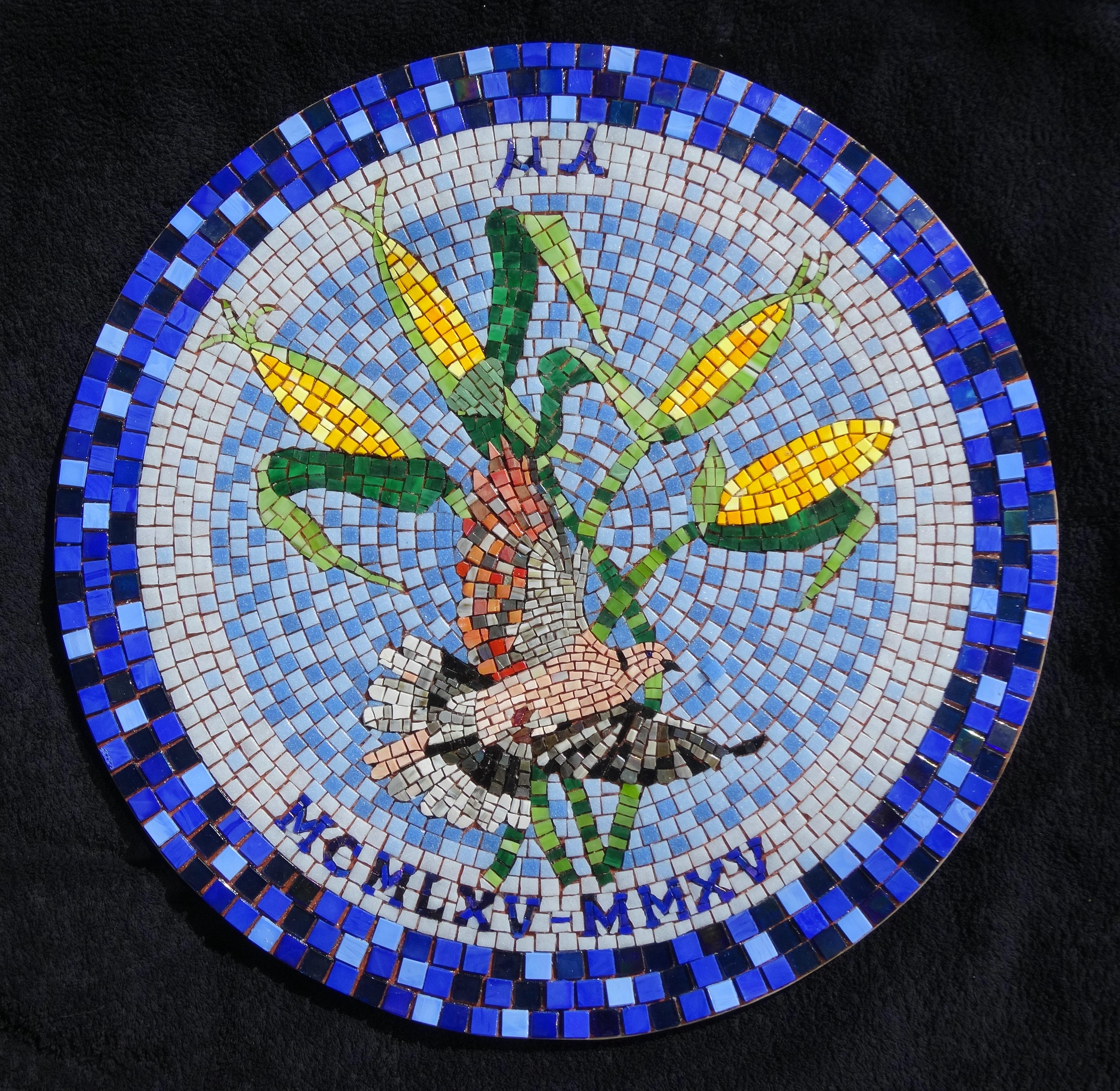 Terra y Sol Duif mozaiek