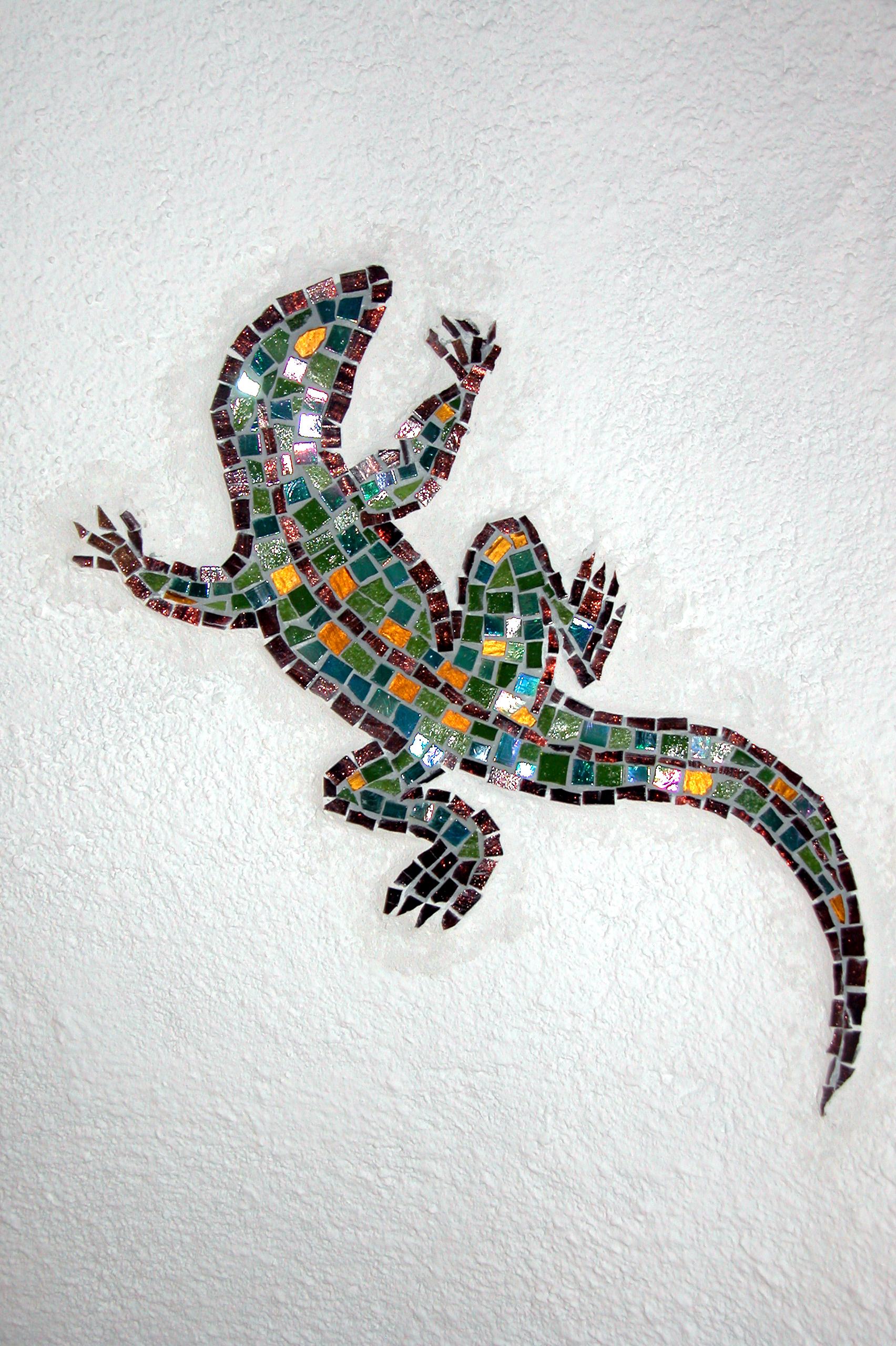 Terra y Sol hagedis muur mozaiek