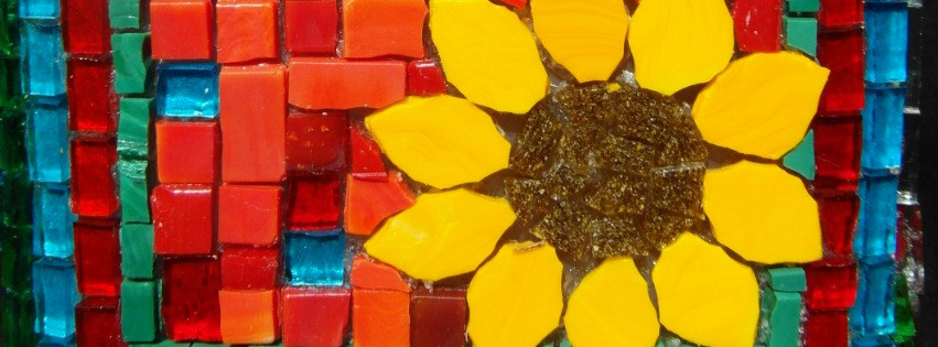 Terra y Sol zonnebloem mozaiek