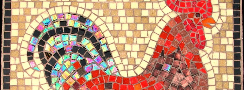 Terra y Sol glas mozaiek haan