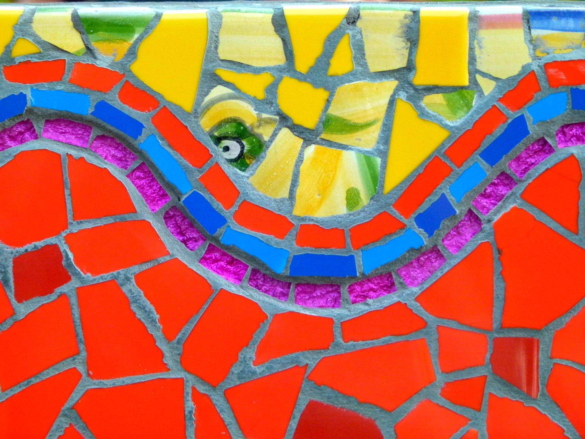 Terra y Sol spiegel mozaiek